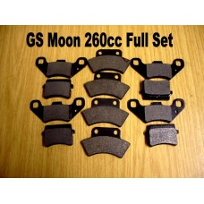 Brake Pads Full Set 12 GS Moon 260cc Atv/Buggy
