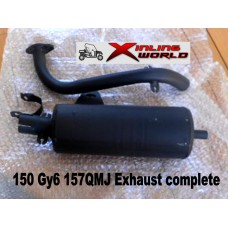 Exhaust 150cc BuggyGY6 157qmj ,Kinroad xinling